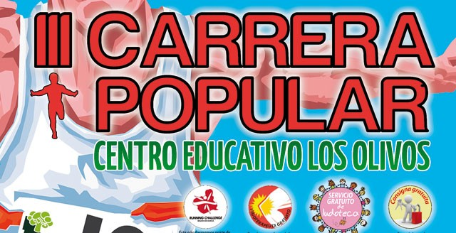 Cartel III Carrera Popular del Centro Educativo Los Olivos